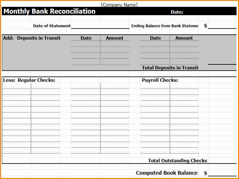 Payroll Reconciliation Excel Template Awesome 6 Payroll Reconciliation Template