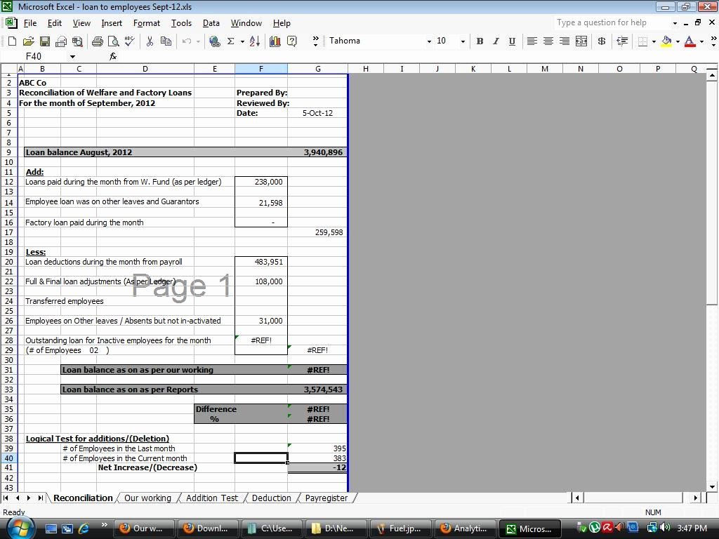 Payroll Reconciliation Excel Template Awesome Download Free Internal Audit Working Papers Payroll Audit Working Papers Templates In Ms Excel