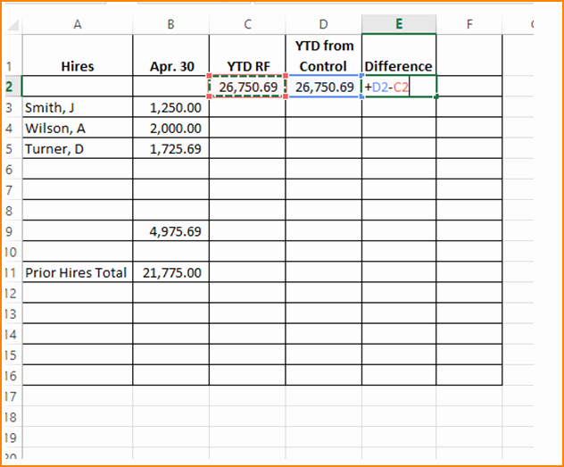 Payroll Reconciliation Excel Template Fresh 6 Payroll Reconciliation Example