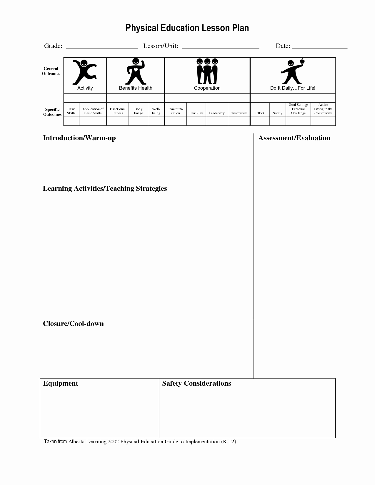 Pe Lesson Plan Template Beautiful Best S Of Physical Education Unit Plan Template Pe Lesson Plan Template Physical