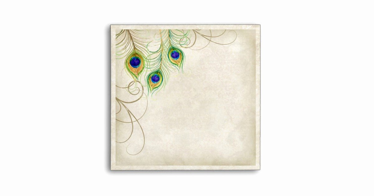 Peacock Feather Wedding Invitations Awesome Peacock Feathers Wedding Invitation Envelope