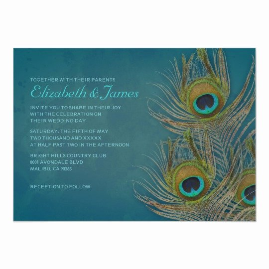 Peacock Feather Wedding Invitations Best Of Peacock Feather Wedding Invitations