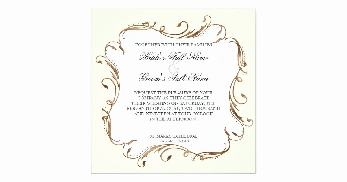 Peacock Feather Wedding Invitations Fresh Peacock Feather N Swirls Wedding Invitation