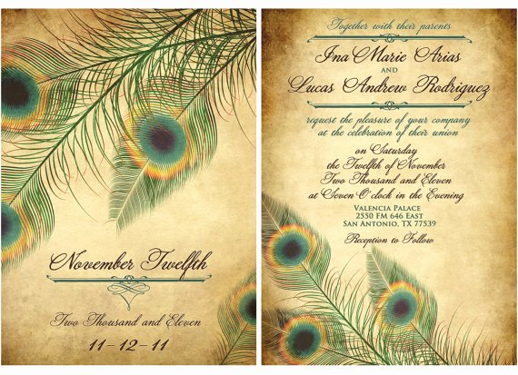 Peacock Invitations Template Free Awesome Introducing Wedding Wednesdays with Peacock Madness