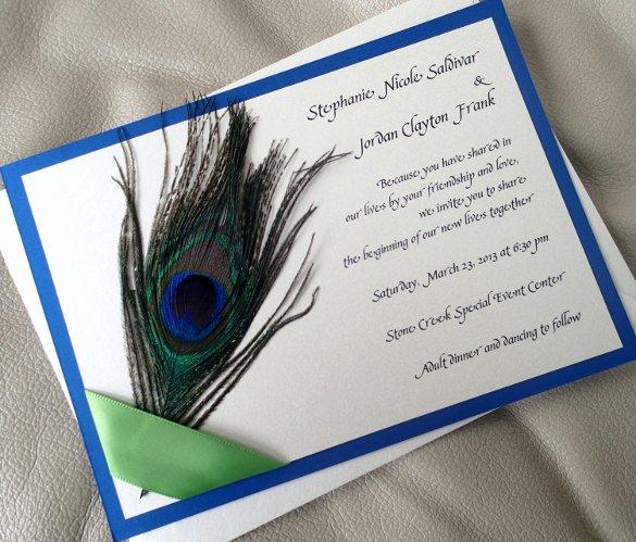 Peacock Invitations Template Free Beautiful 13 Peacock Wedding Invitations Psd Jpg Indesign