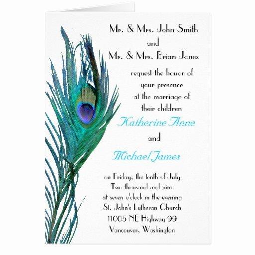 Peacock Invitations Template Free Beautiful Peacock Wedding Invitation Template