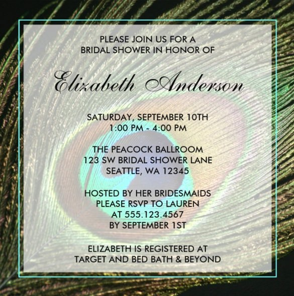 Peacock Invitations Template Free Best Of 23 Peacock Wedding Invitation Templates – Free Sample Example format Download
