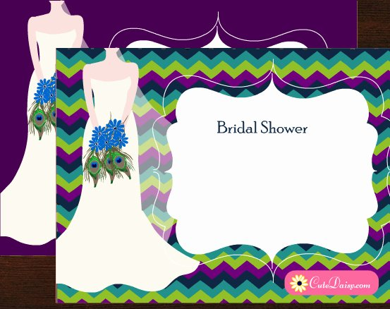 Peacock Invitations Template Free Best Of Free Printable Peacock themed Bridal Shower Invitations Templates