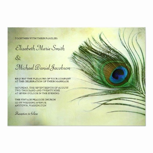 Peacock Invitations Template Free Luxury Vintage Peacock Feather Wedding Invitations