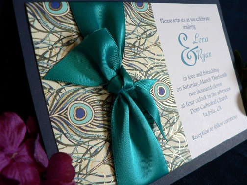 Peacock themed Wedding Invitations Awesome Celebrations by Shari Wedding Invitations for Peacock themed Wedding