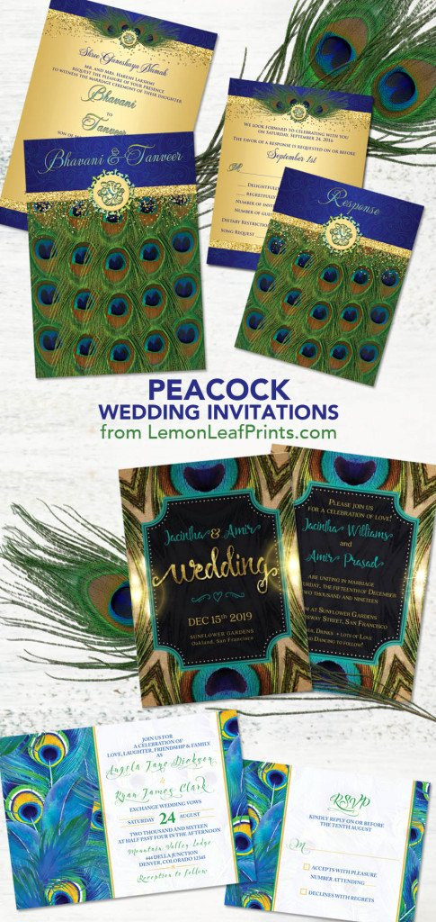 Peacock themed Wedding Invitations Fresh Party Simplicity Peacock Wedding Invitation Sets Party Simplicity