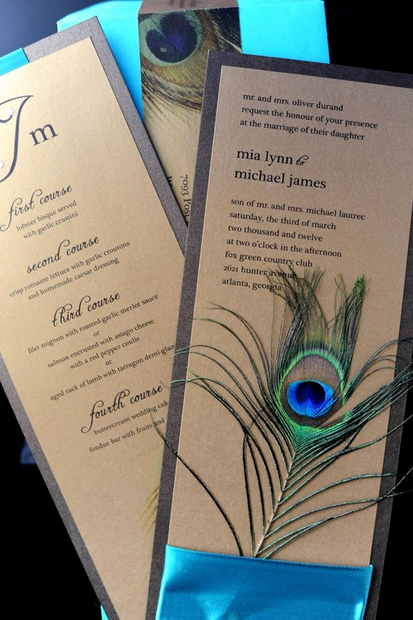 Peacock themed Wedding Invitations Luxury Peacock Wedding Invitations and Wedding Ideas