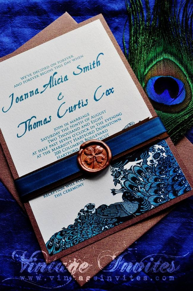 Peacock themed Wedding Invitations Luxury Vintage Wedding Love Vintage Invites Wedding Invitations for Vintage Lovers the Joanna