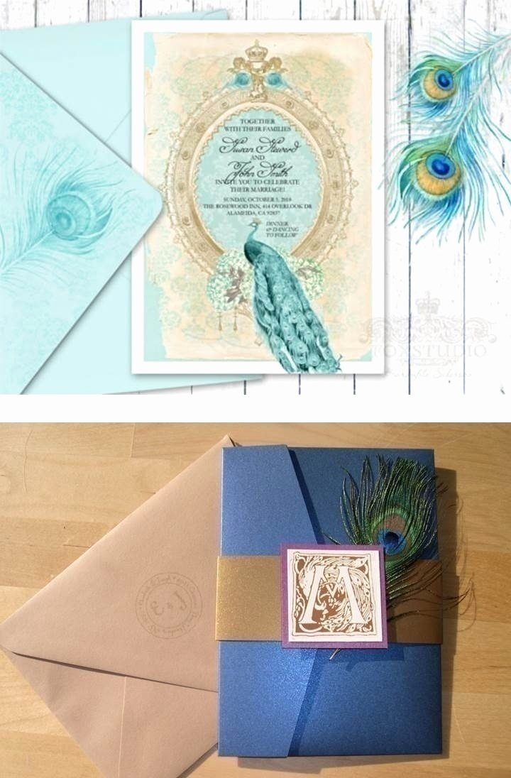 Peacock themed Wedding Invitations Unique How to Plan A Peacock – themed Indian Wedding Blog