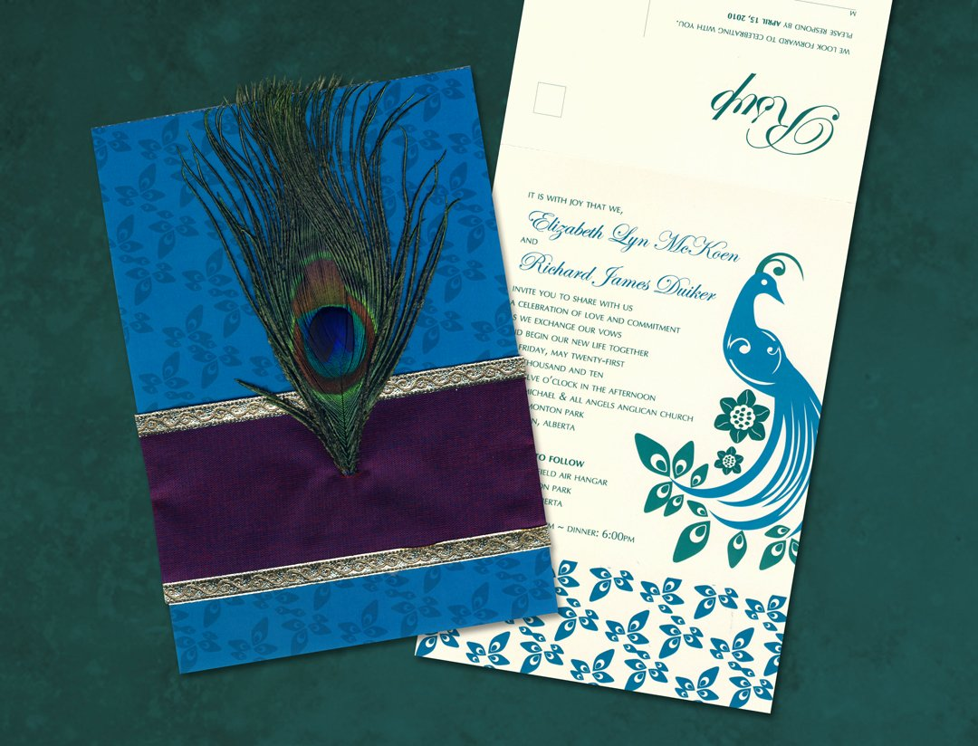Peacock themed Wedding Invitations Unique Peacock Centerpieces