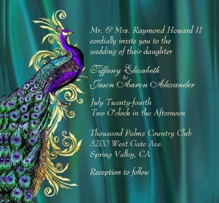 Peacock Wedding Invitations Template Awesome Inspiring Peacock Invitation Templates Mericahotel