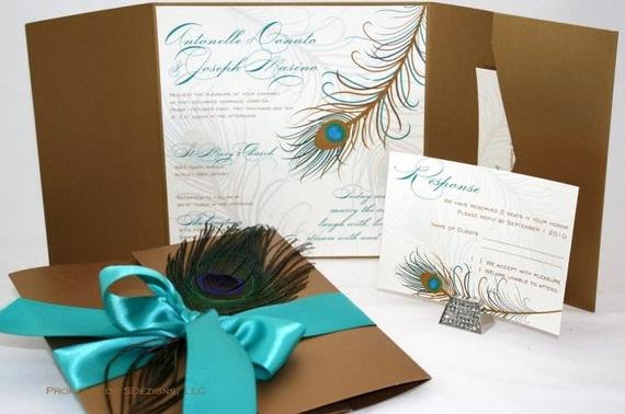Peacock Wedding Invitations Template Awesome Peacock Wedding Invitations Fabulous Real Feather Chic