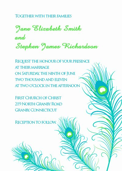Peacock Wedding Invitations Template Best Of Peacock Feathers Wedding Invitation ← Wedding Invitation Templates – Printable Invitation Kits