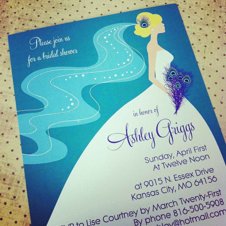 Peacock Wedding Invitations Template Elegant Peacock Bridal Shower Bachelorette Party Invitation