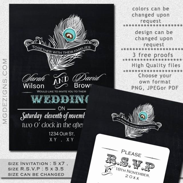 Peacock Wedding Invitations Template Lovely Printable Wedding Invitation Template Garden Wedding Invitations Rustic Wedding Invitation