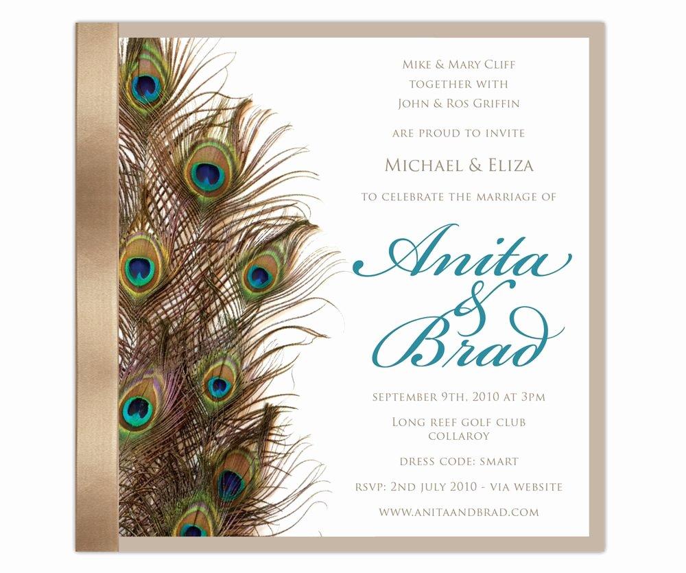 Peacock Wedding Invitations Template Luxury Peacockeleganceinvite A Invitation Templates Wedding Planning