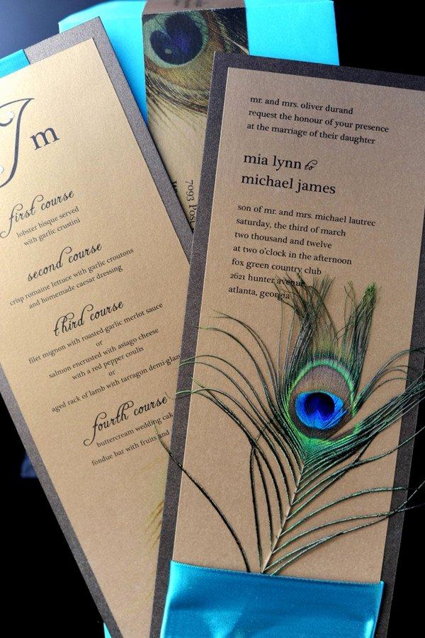 Peacock Wedding Invitations Template Unique Peacock Wedding Invitations and Wedding Ideas