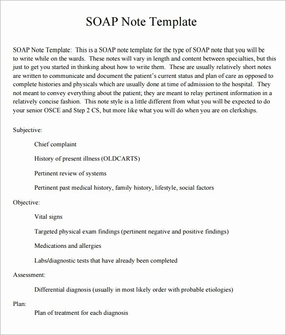 Pediatric soap Note Template Unique soap Note Template 10 Download Free Documents In Pdf Word