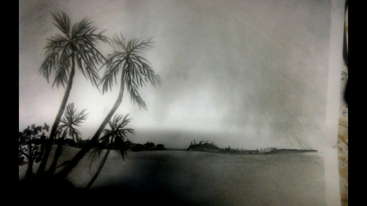 Pencil Sketches Of Nature Beautiful Sketching Nature for Beginners How to Draw Scenery Shadow Scene by Pencil Sketch