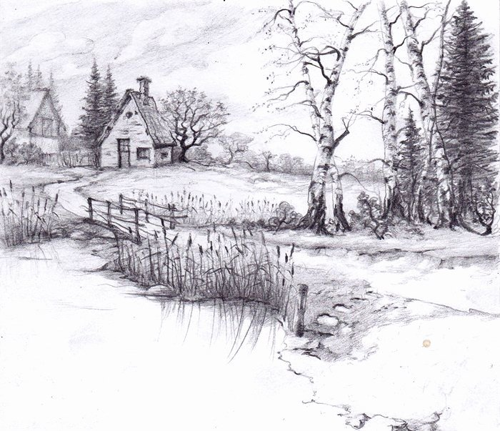 Pencil Sketches Of Nature Elegant the 25 Best Landscape Drawings Ideas On Pinterest