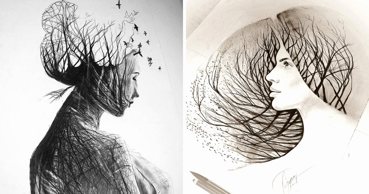 Pencil Sketches Of Nature Fresh I Personify Mother Nature In My Pencil Drawings
