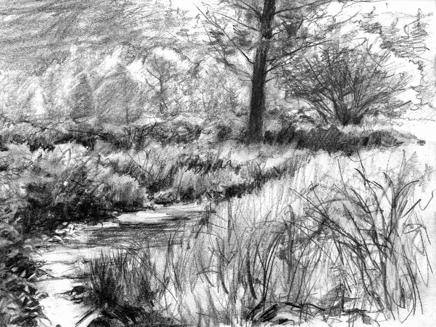 Pencil Sketches Of Nature Lovely Pencil Sketch Scenery Scenery