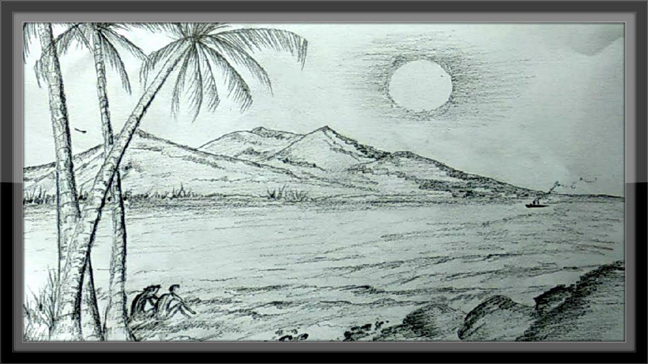 Pencil Sketches Of Nature Unique Pencil Drawings Landscape Romantic Nature Scenery Easy