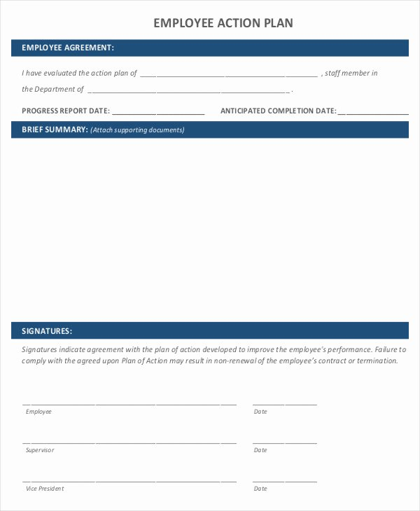 Performance Improvement Plan Template Word Best Of 10 Performance Action Plan Templates Free Sample Example format Download