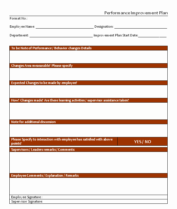 Performance Improvement Plan Template Word Elegant Performance Improvement Plan Template In Word Microsoft Project Management Templates