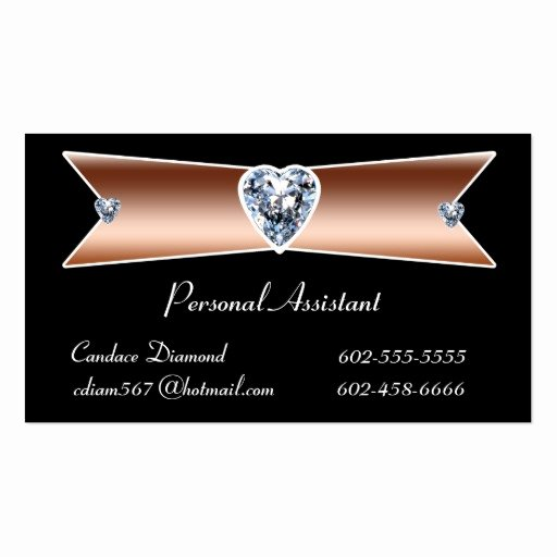 Personal assistant Business Cards Awesome Diamond Personal assistant Business Cards