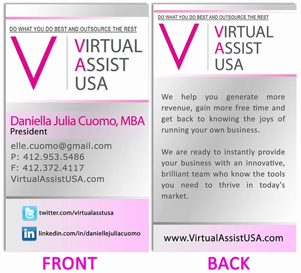 Personal assistant Business Cards Beautiful Business Card On Behance