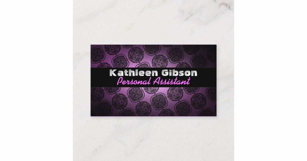 Personal assistant Business Cards Elegant Personal assistant Business Cards