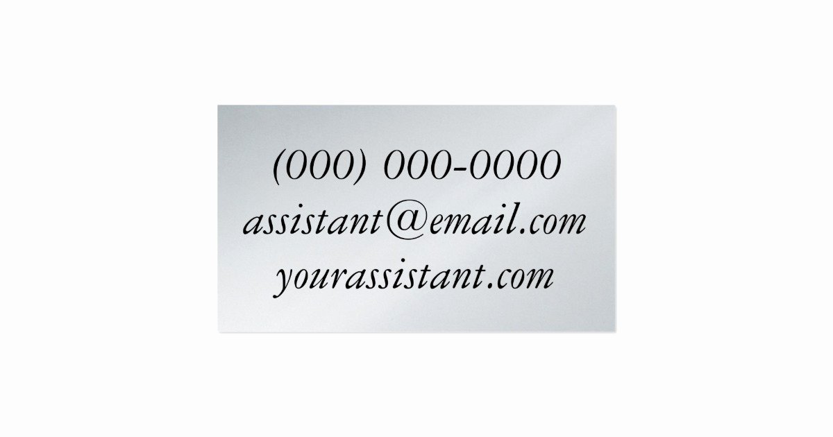 Personal assistant Business Cards Lovely Personal assistant Umbrella Business Card