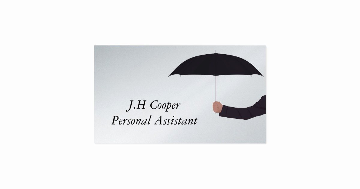 Personal assistant Business Cards Luxury Personal assistant Umbrella Business Card