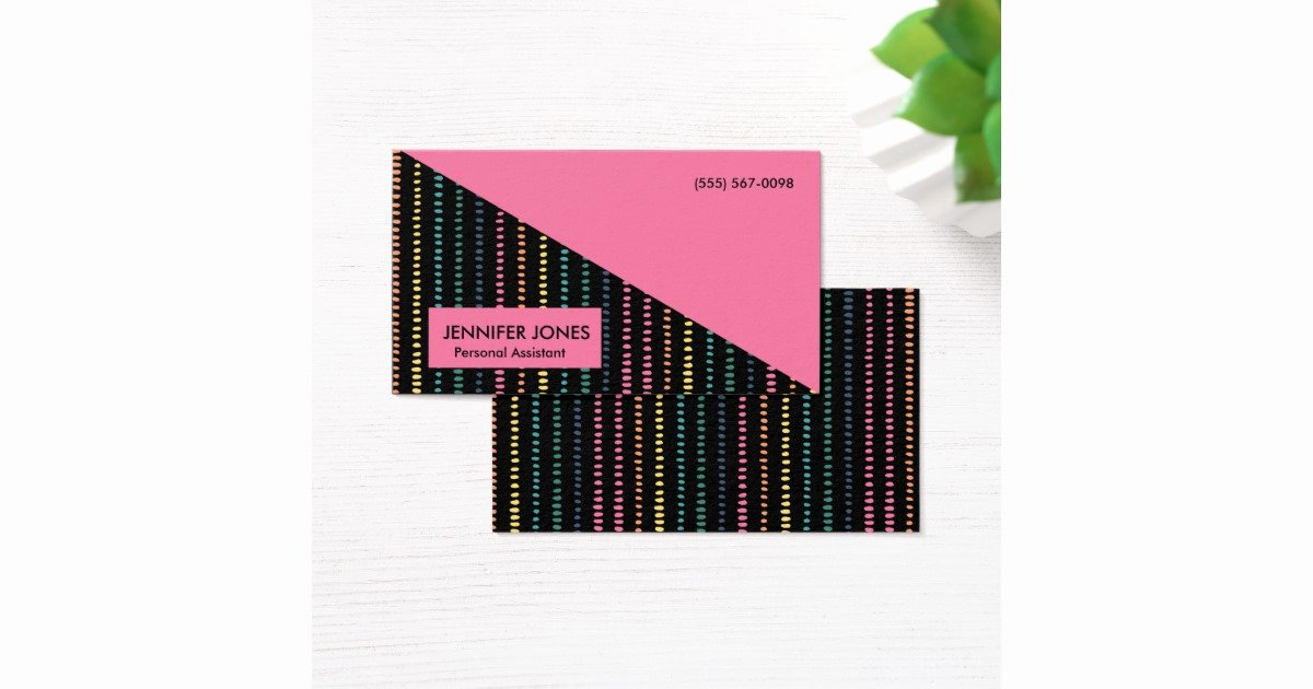 Personal assistant Business Cards New Fun Stripes Personal assistant Business Cards