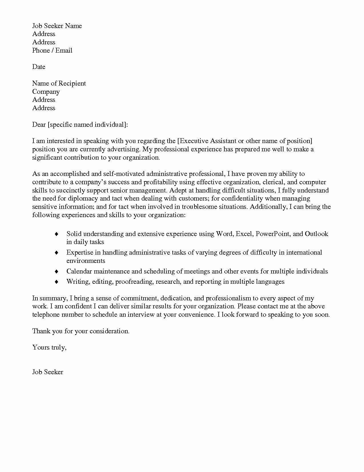 Personal assistant Cover Letter Awesome 12 13 Personal assistant Cover Letter Samples