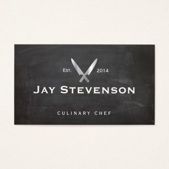 Personal Chef Business Card Awesome Cool Personal Chef Knife Black Catering Logo Business Card
