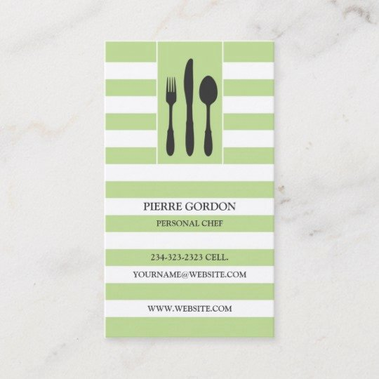 Personal Chef Business Card Beautiful Personal Chef Business Card
