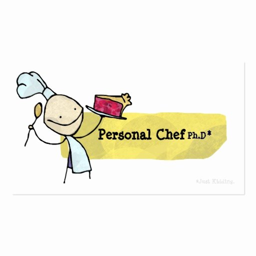 Personal Chef Business Card Fresh Personal Chef Ph D Business Card