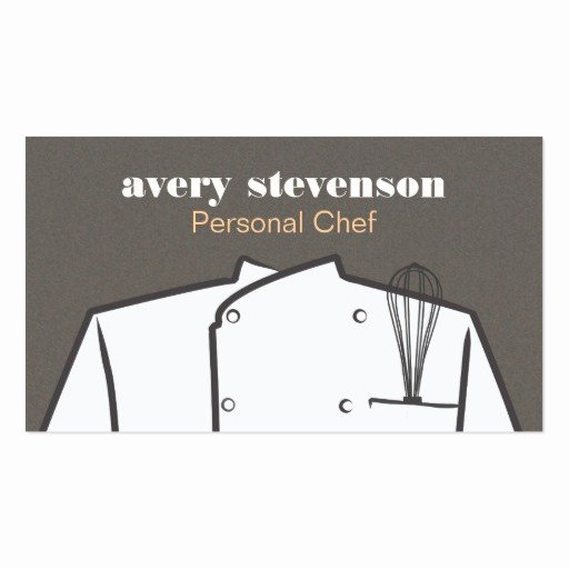 Personal Chef Business Card Luxury Personal Chef Business Card