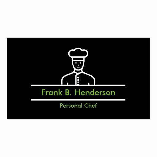 Personal Chef Business Card Luxury Professional Personal Chef Business Card