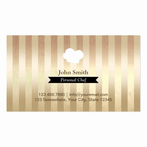 Personal Chef Business Card New Black Belt Gold Foil Stripes Personal Chef Business Card Templates