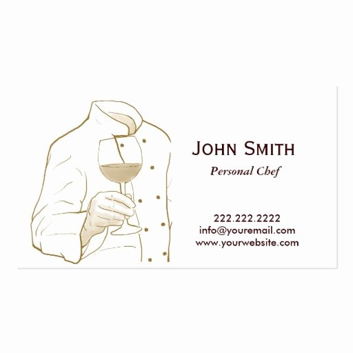 Personal Chef Business Card New Hand Drawing Personal Chef Business Card