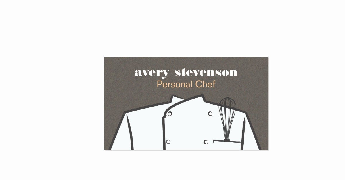 Personal Chef Business Card New Personal Chef Business Card