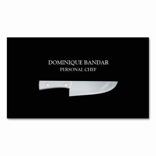 Personal Chef Business Card New Personal Chef Business Card Zazzle Chef Cook Business Cards